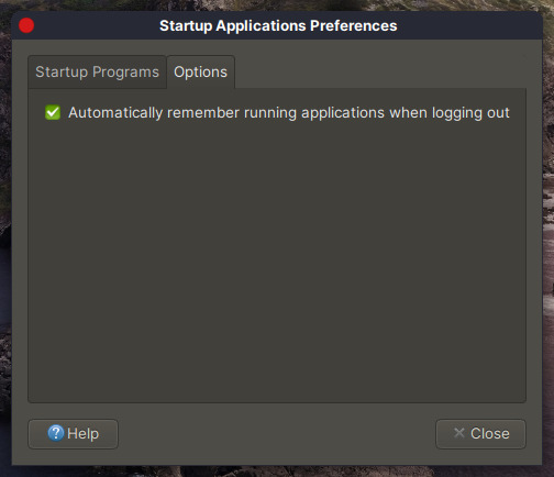 Remember running applications when logging out